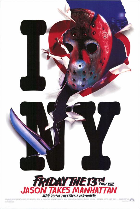 Friday the 13th, Part VIII: Jason Takes Manhattan poster