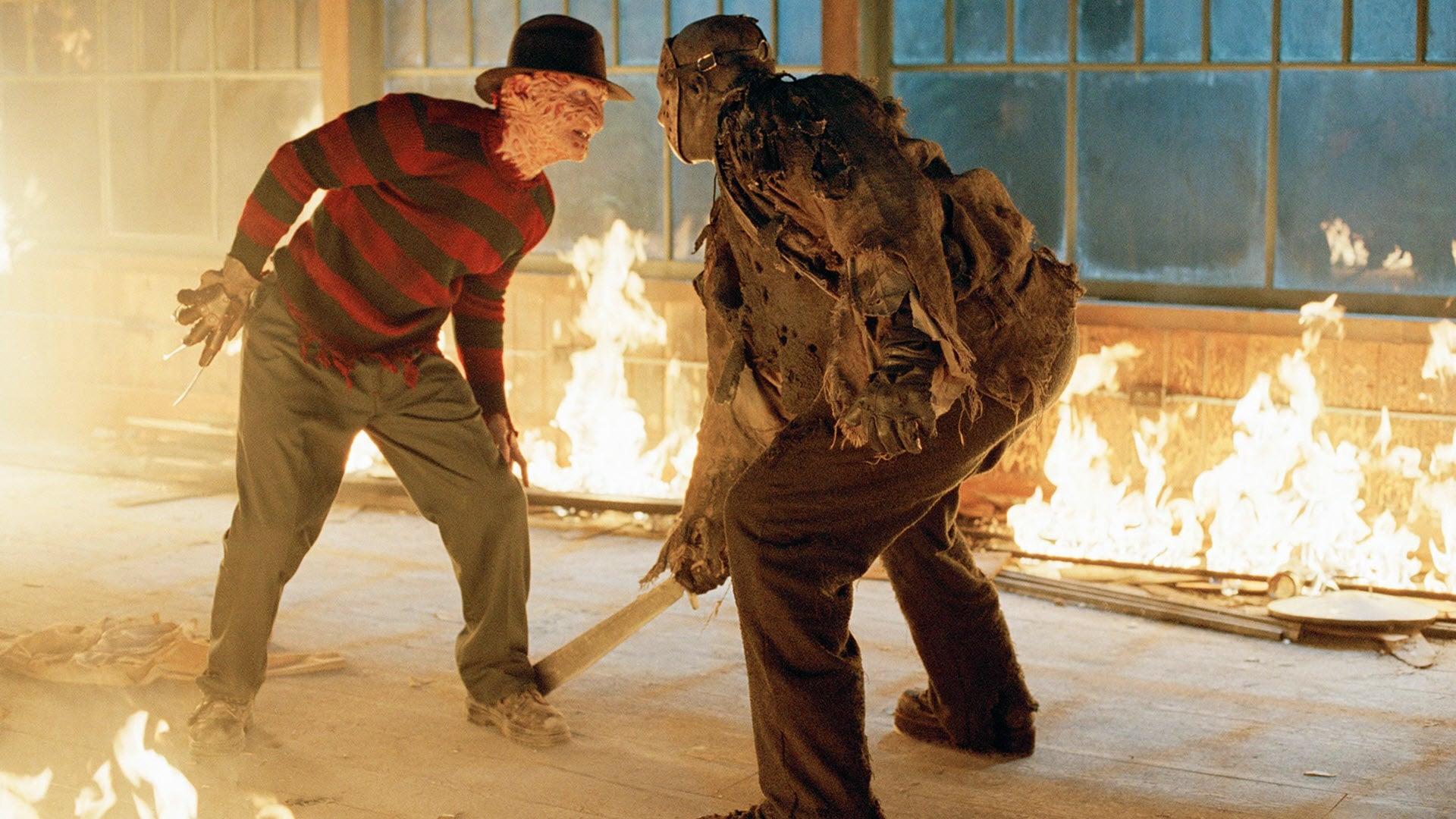 Freddy vs. Jason backdrop