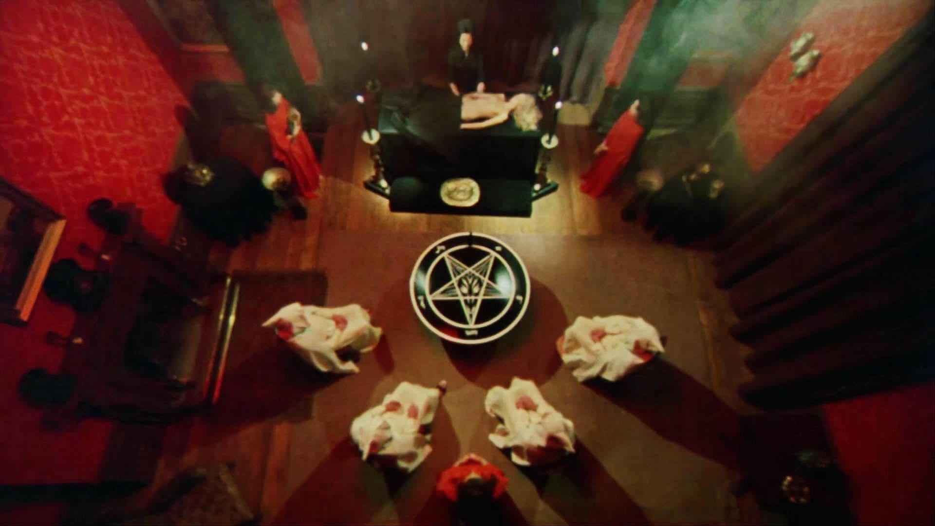 The Satanic Rites of Dracula backdrop