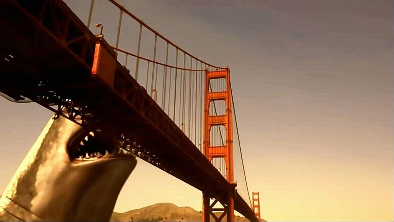 Mega Shark vs. Giant Octopus backdrop