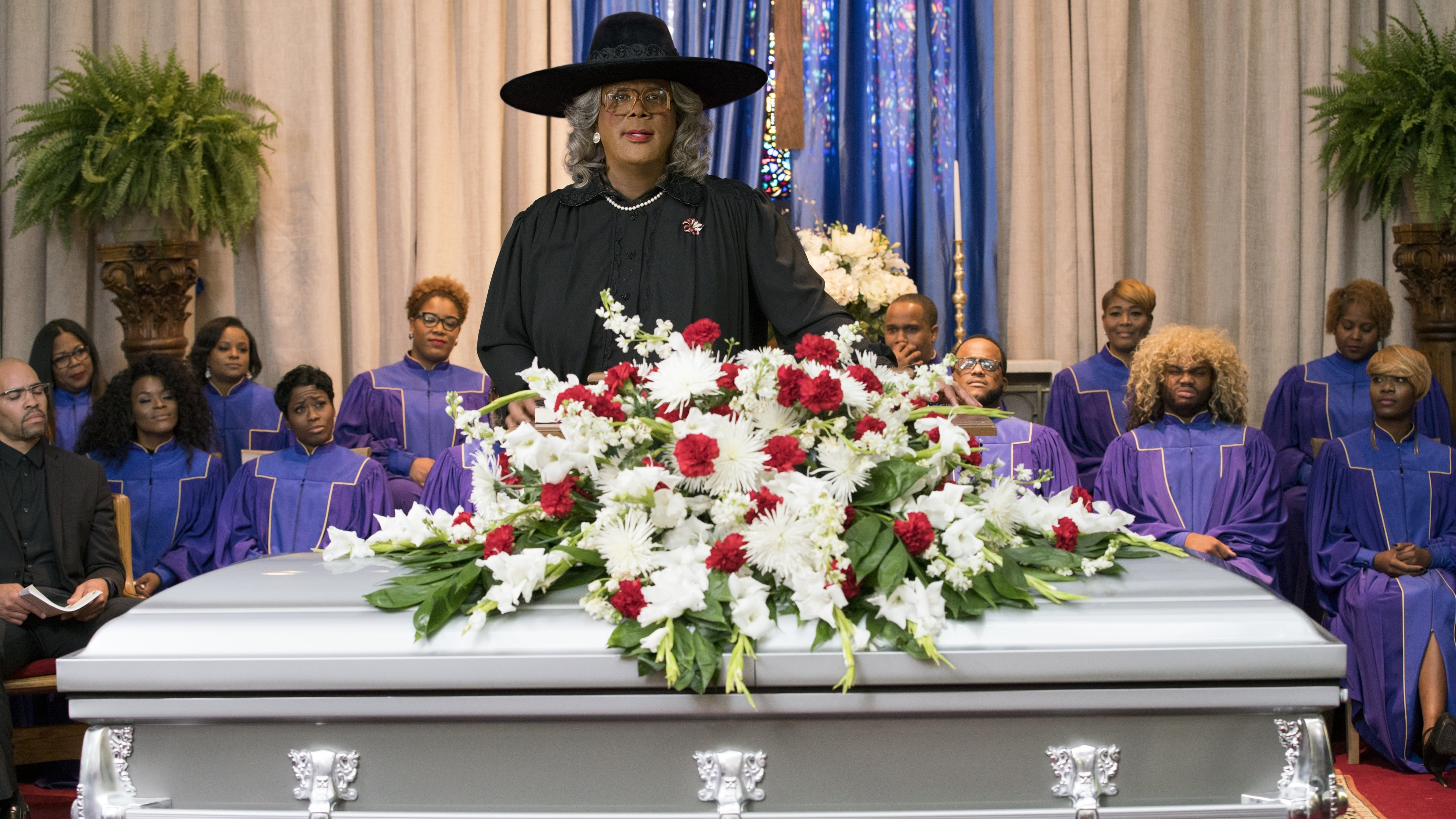 A Madea Family Funeral backdrop
