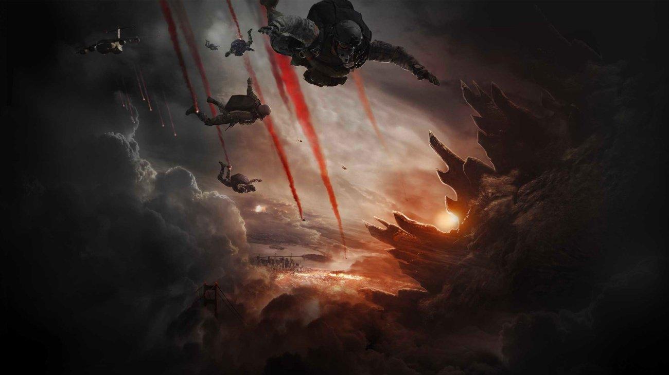 Godzilla backdrop