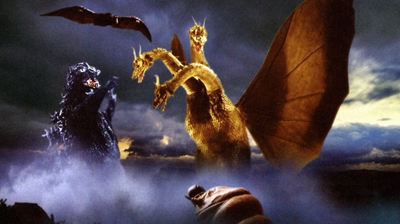 Ghidorah, the Three-Headed Monster backdrop
