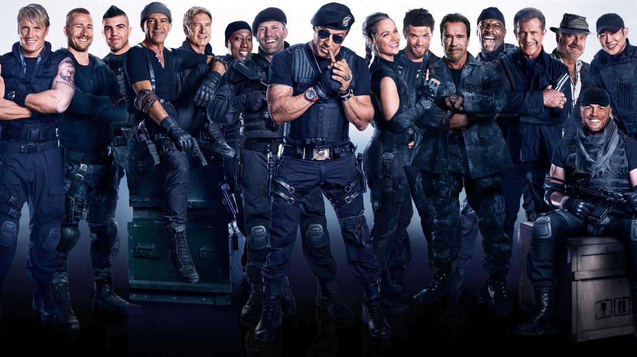 The Expendables 3 backdrop