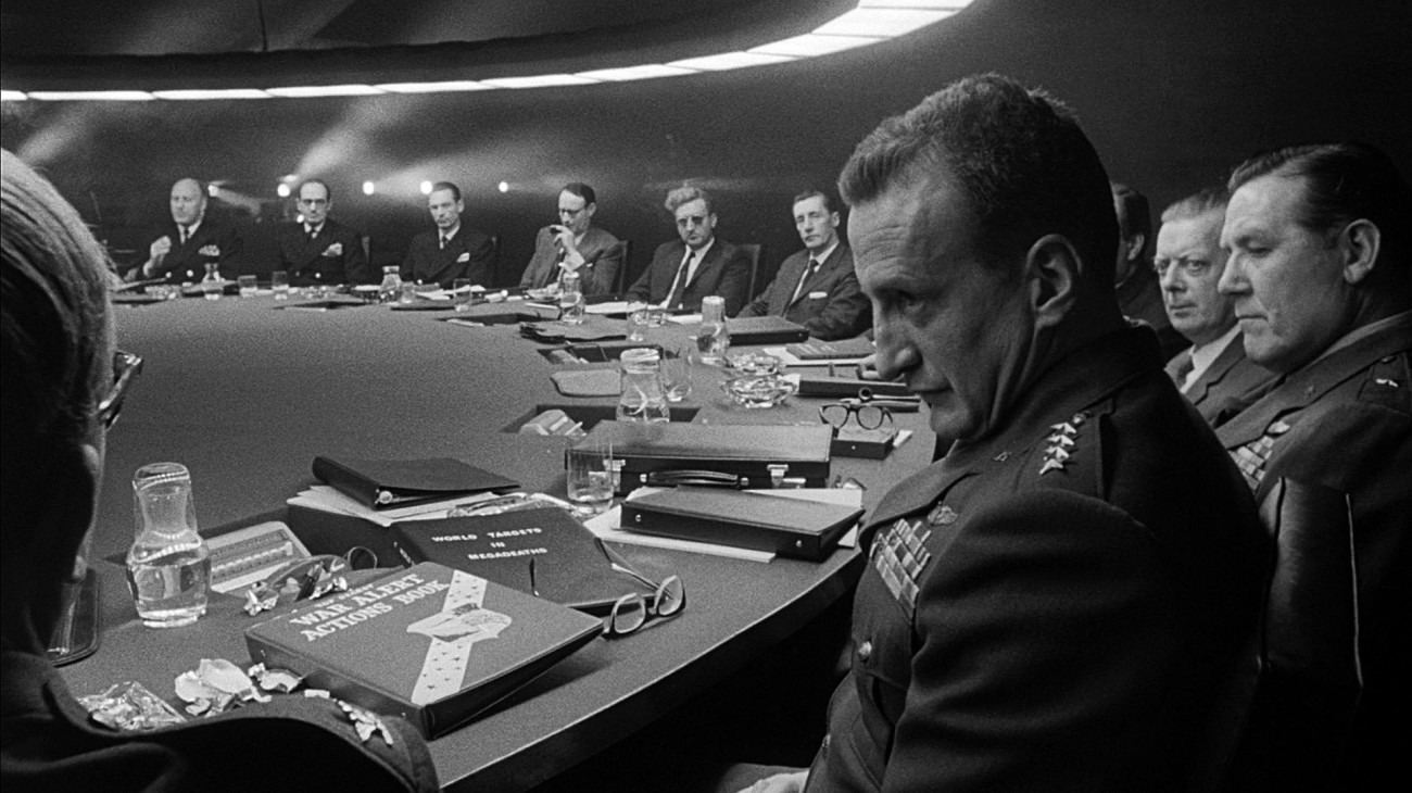 Dr. Strangelove or: How I Learned to Stop Worrying and Love the Bomb backdrop