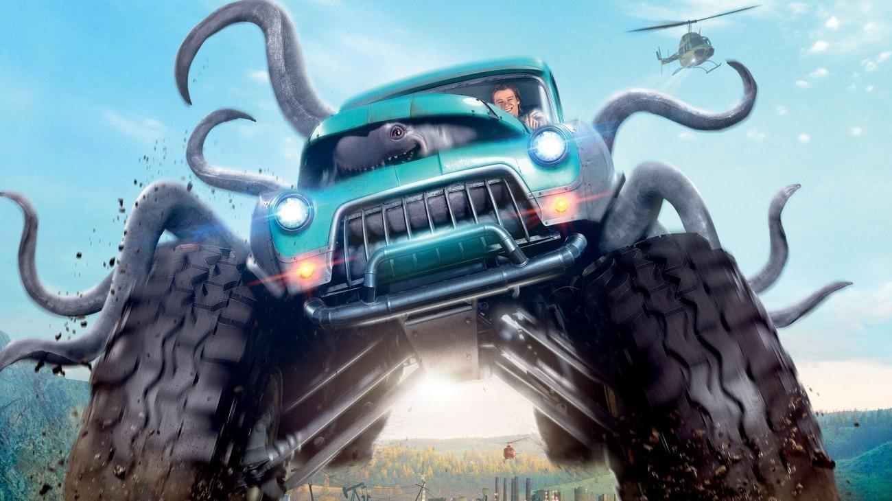 Monster Trucks backdrop