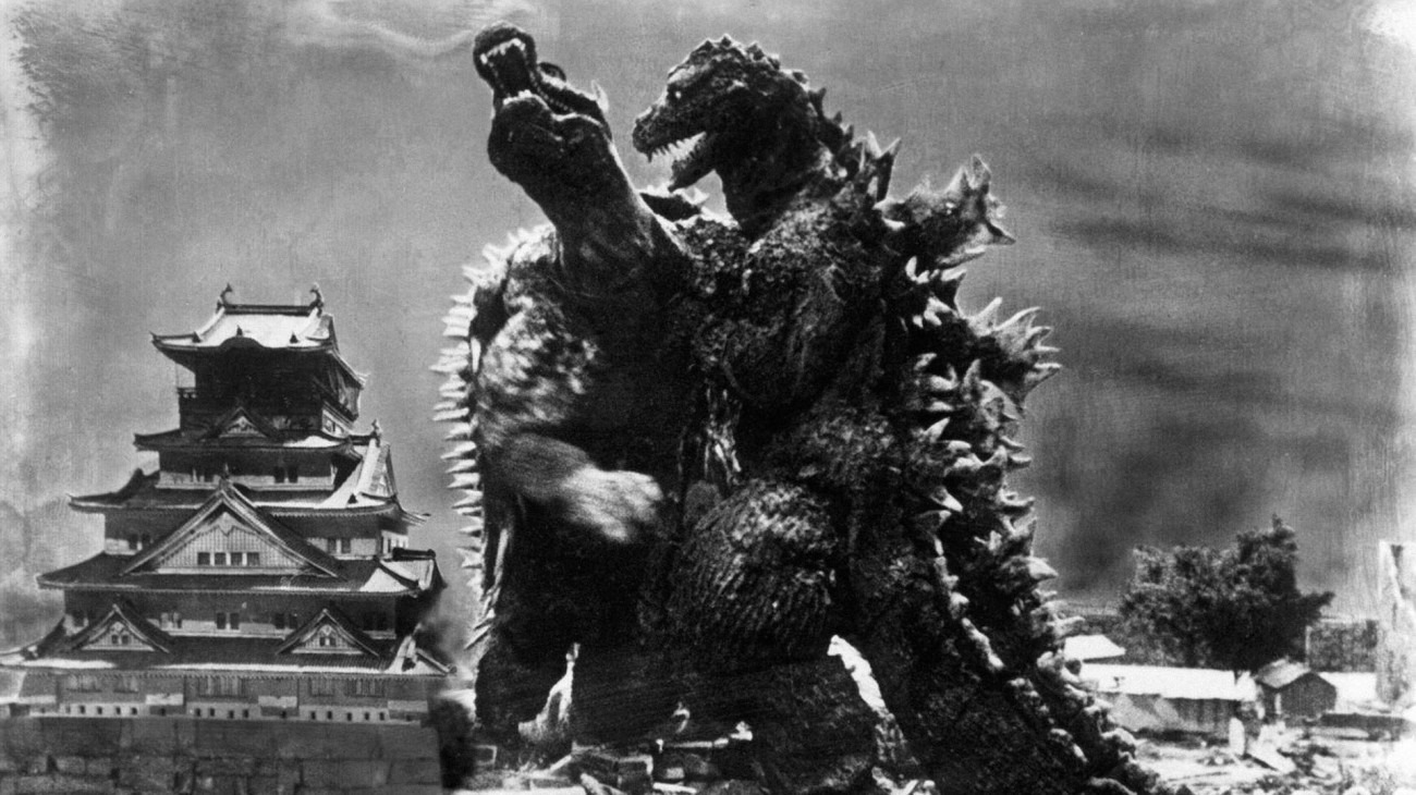 Godzilla Raids Again backdrop