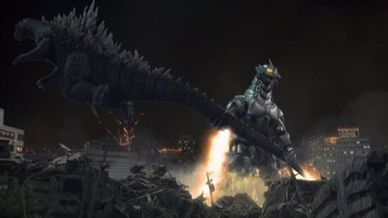 Godzilla Against Mechagodzilla backdrop