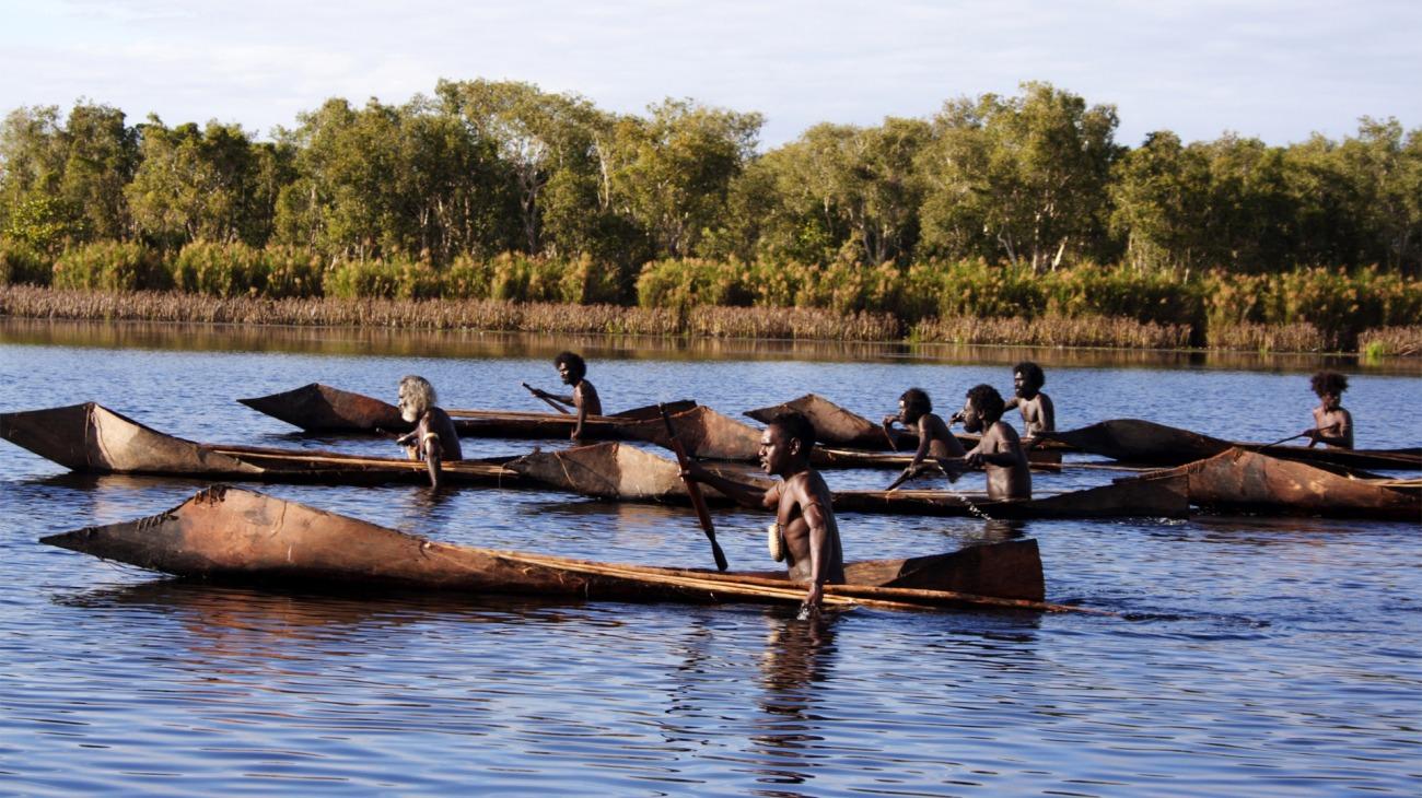 Ten Canoes backdrop