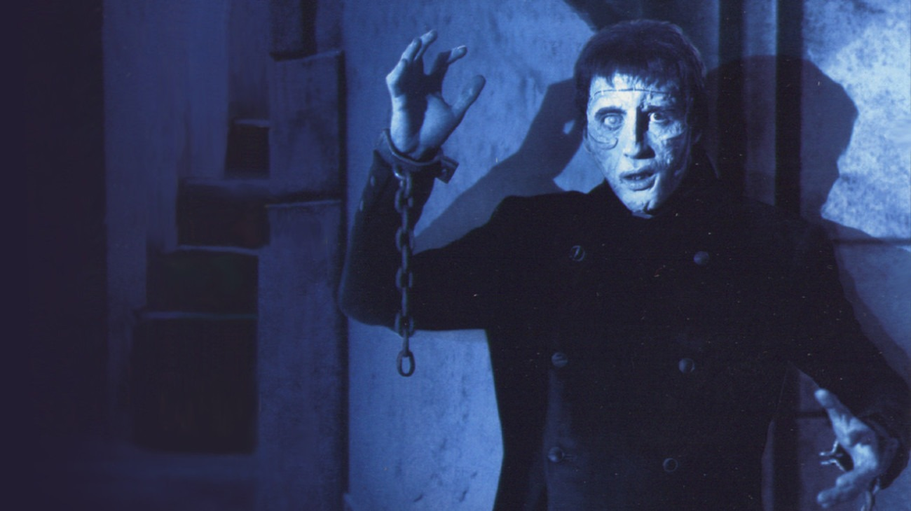 The Curse of Frankenstein backdrop