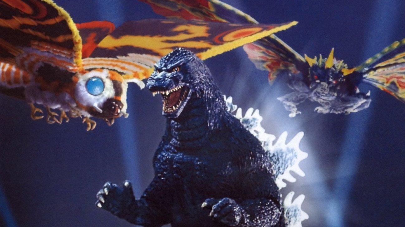 Godzilla vs. Mothra backdrop