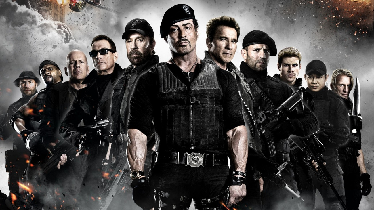 The Expendables 2 backdrop