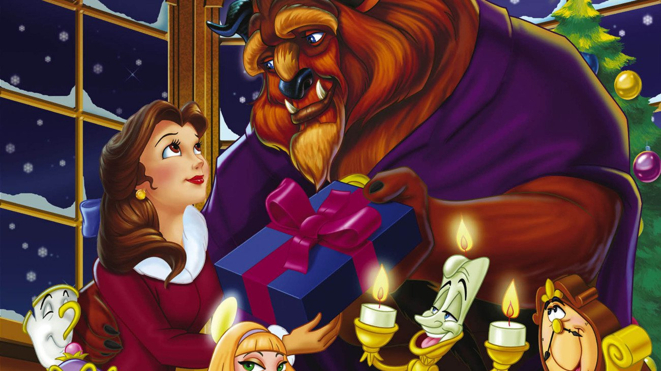 Beauty and the Beast: The Enchanted Christmas backdrop