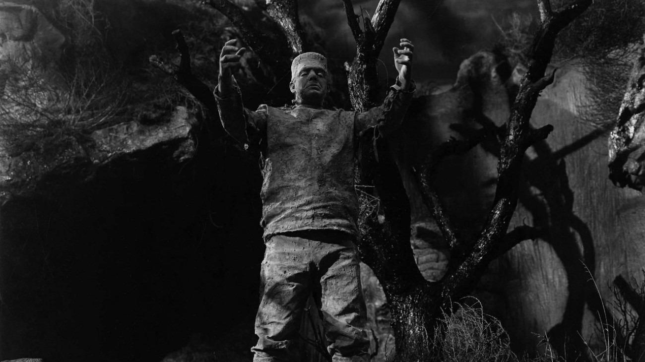 The Ghost of Frankenstein backdrop