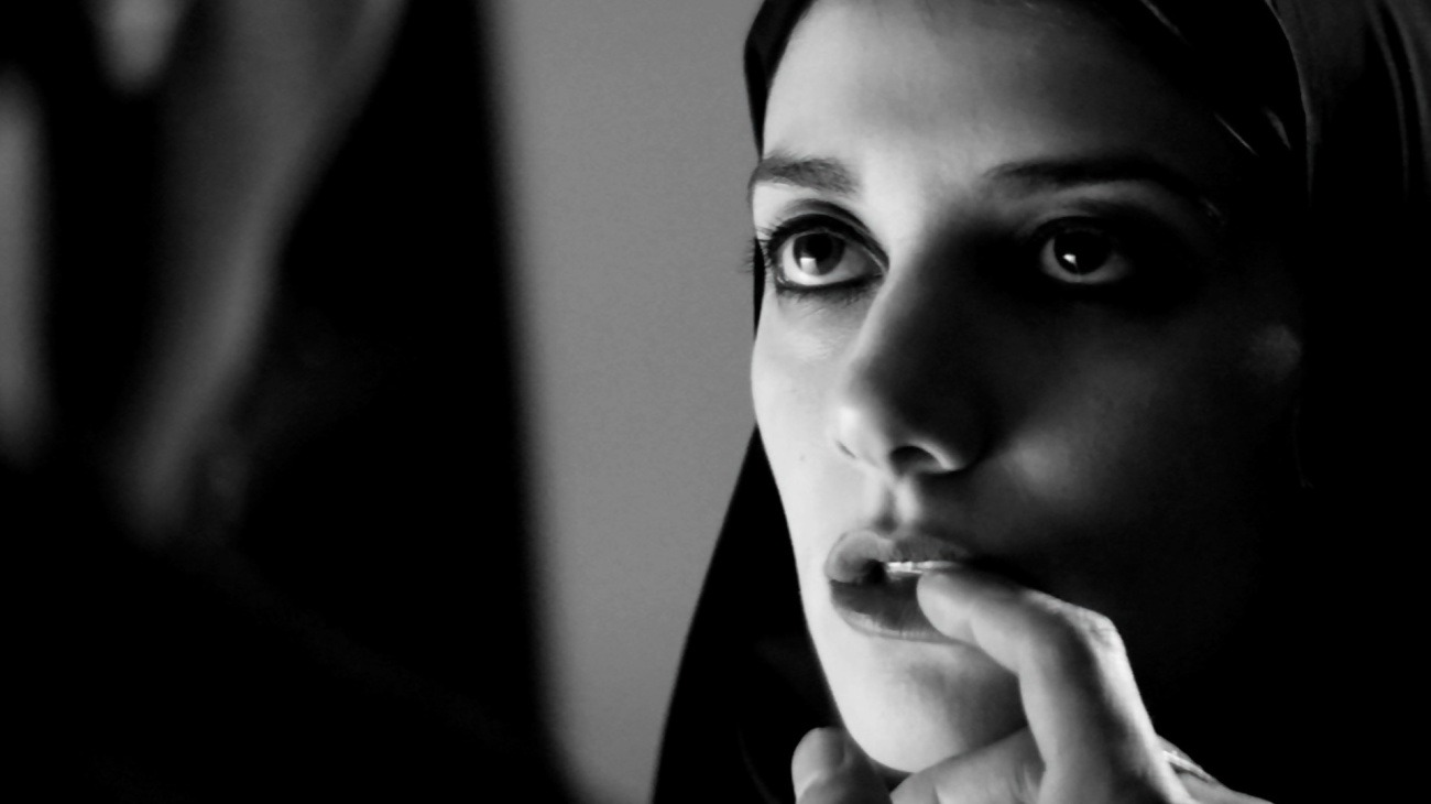 A Girl Walks Home Alone at Night backdrop