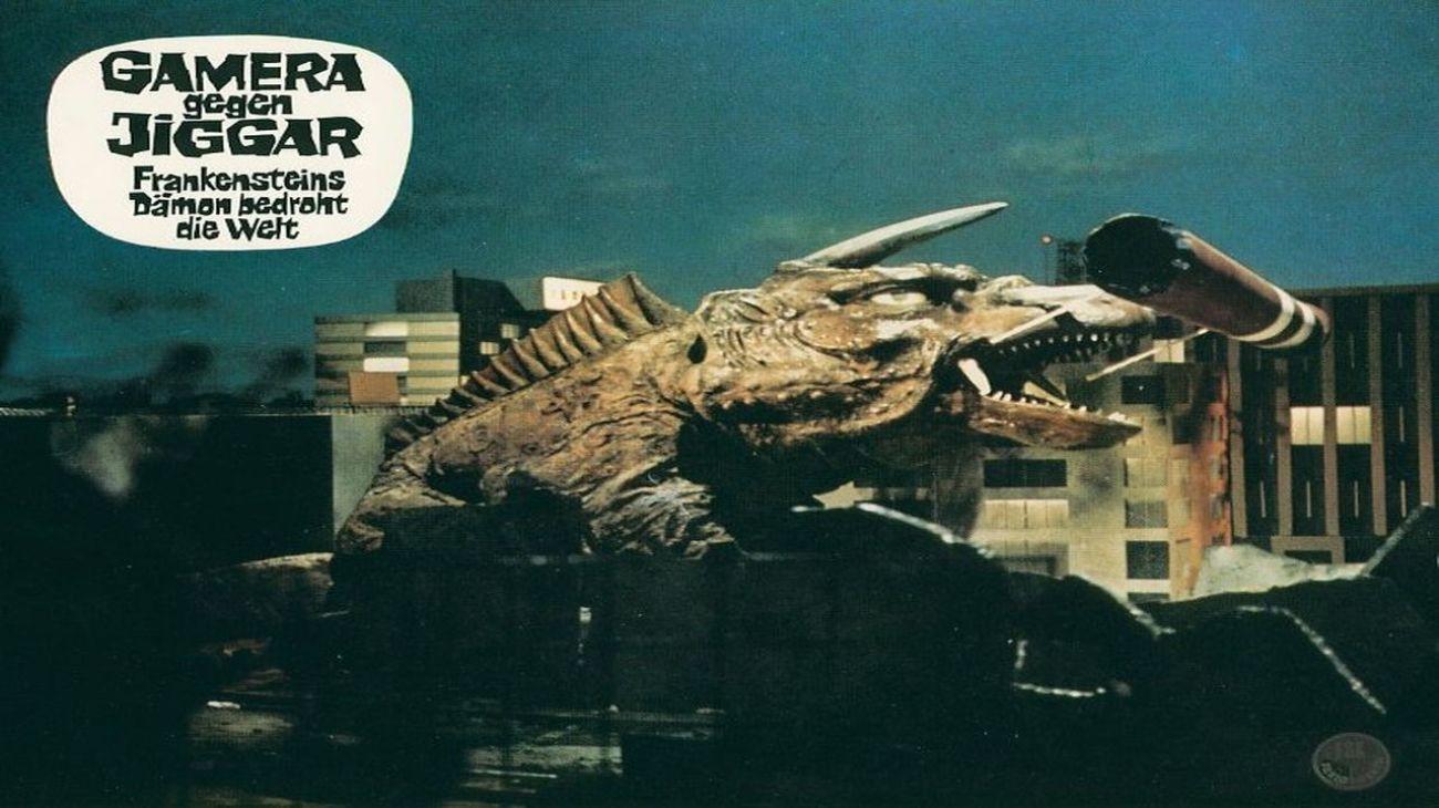 Gamera vs. Jiger backdrop