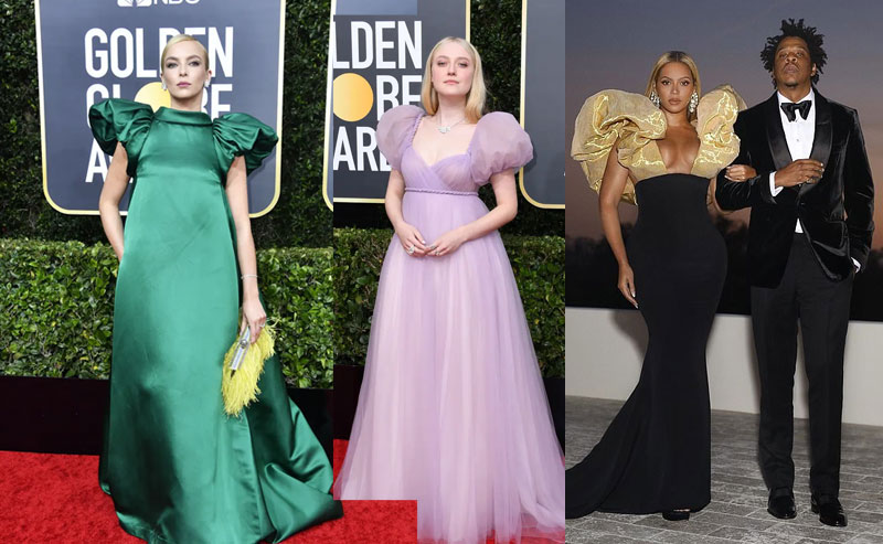 Puffy sleeves at Golden Globes 2020