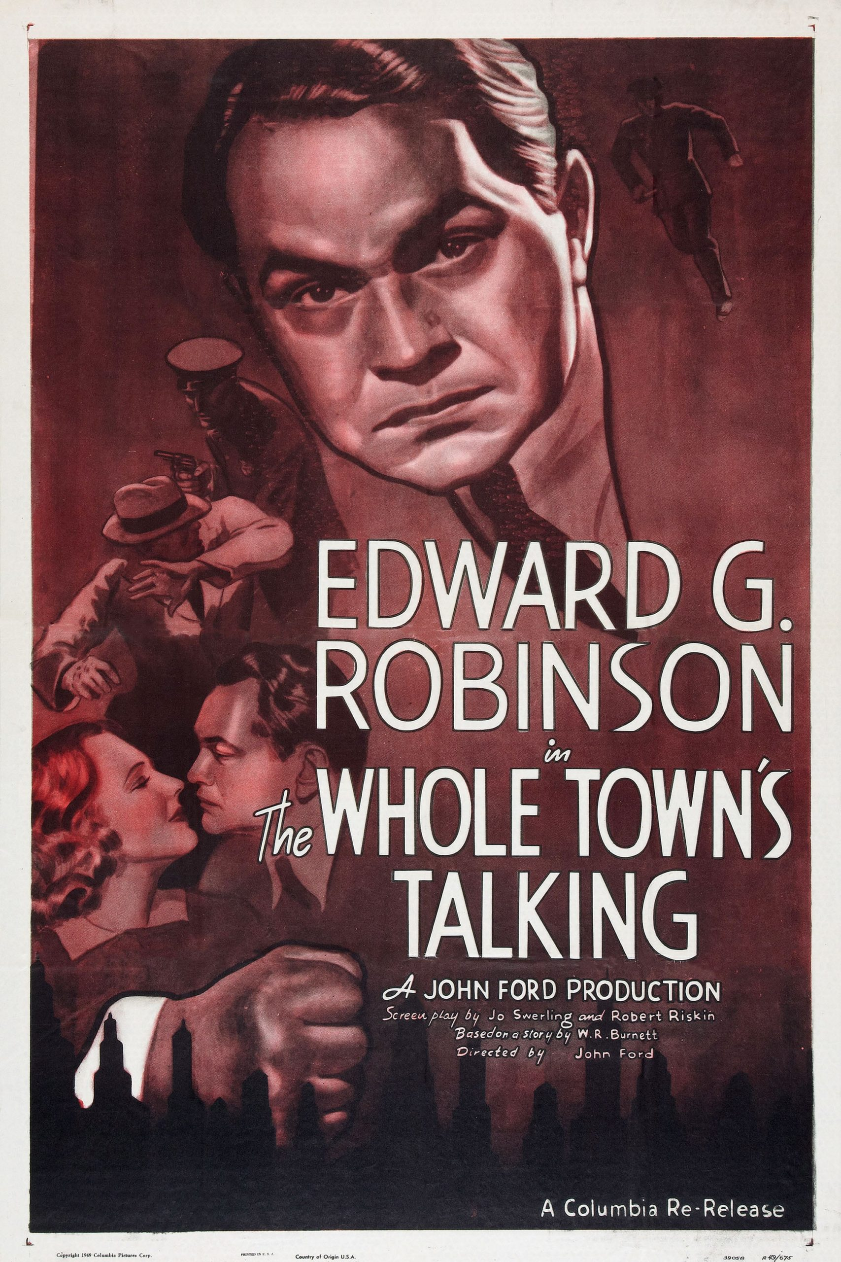 The Whole Town's Talking poster