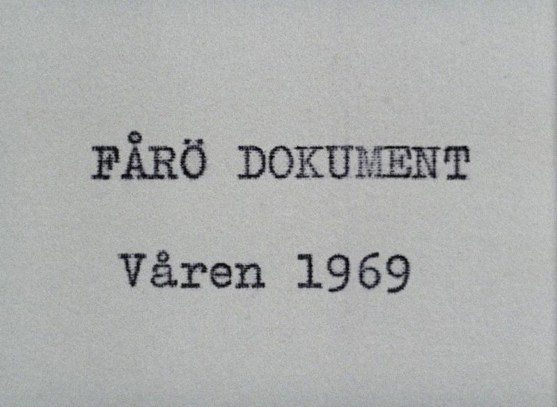 Fårö Document poster