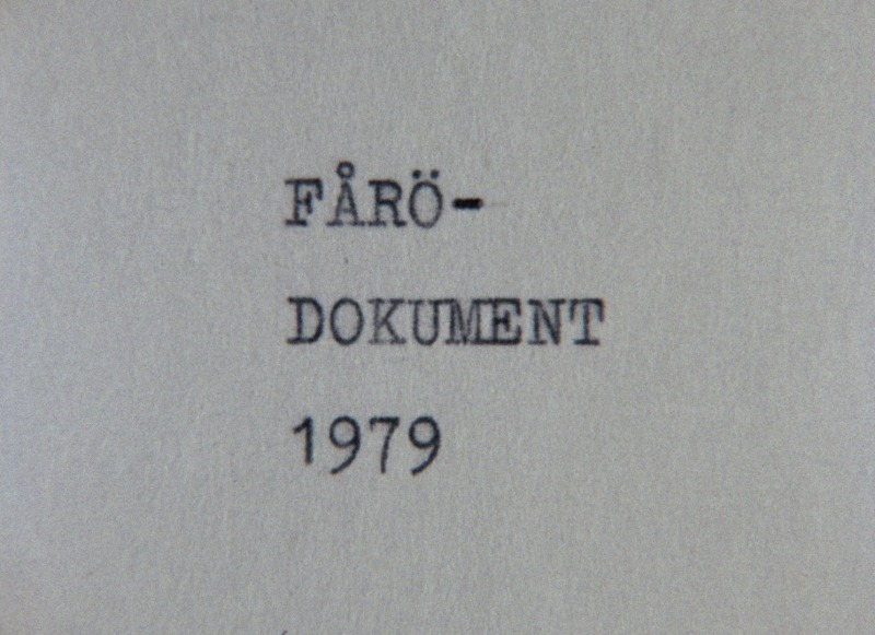 Fårö Document 1979 poster